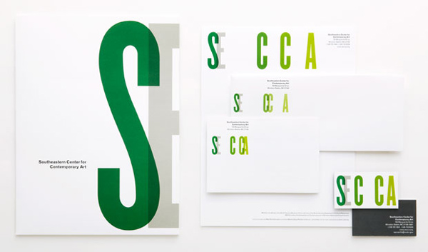 SECCA New Identity Stationery