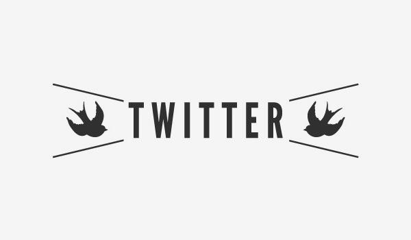 Twitter Hipster Logo