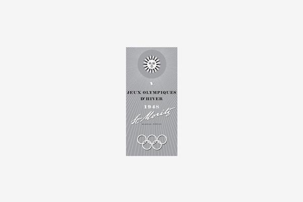 1948 Saint Moritz Winter Olympic Games Logo