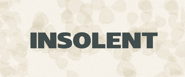 Insolent Font Preview