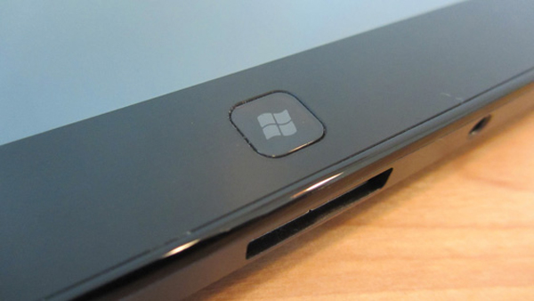 Microsoft Windows 8 Logo on Tablet Device
