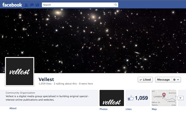 Vellest Facebook Page Screenshot
