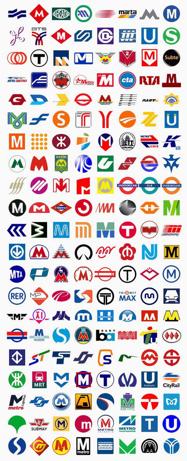 Metro Logos from Around the World