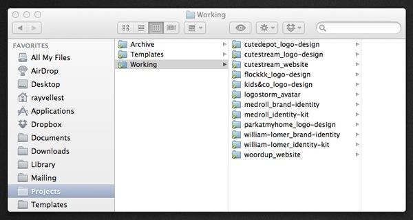 Ray Vellest Working Folder