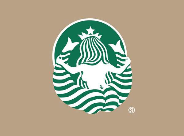 Starbucks Logo from Behind