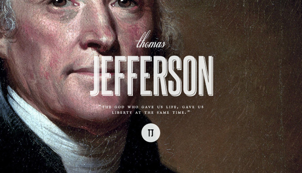 Third President Thomas Jefferson 1743-1826