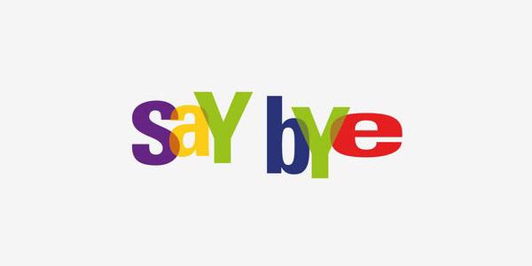 eBay Say Bye Parody Logo