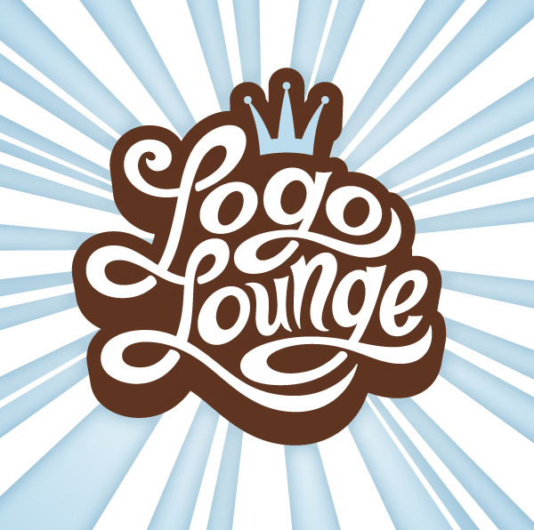 Logo Lounge Custom Typography Burst Graphic