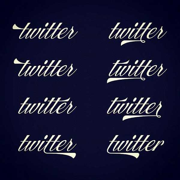 Vintage Twitter Logo by Ale Paul