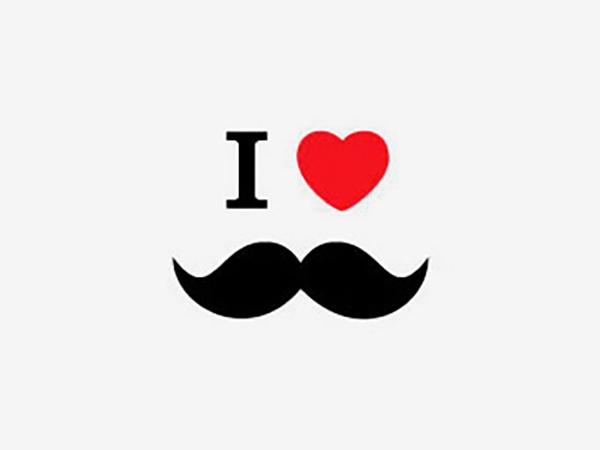 I Love Moustache Logo