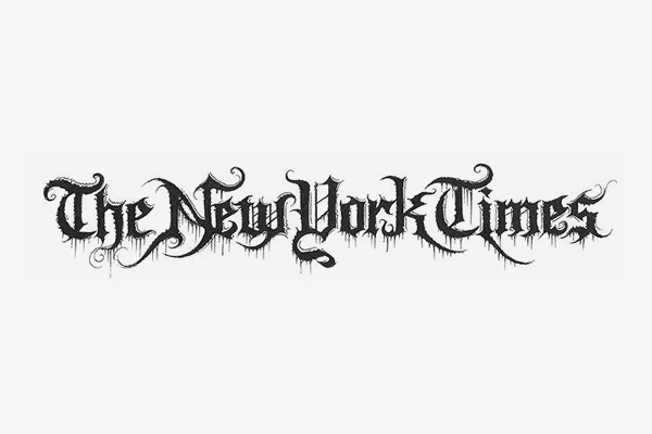 The New York Times Death Metal Logo