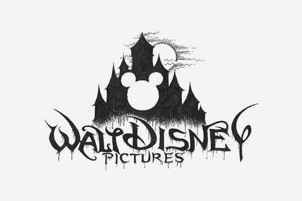 Walt Disney Death Metal Logo