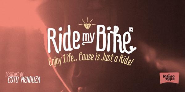 RideMyBike Font