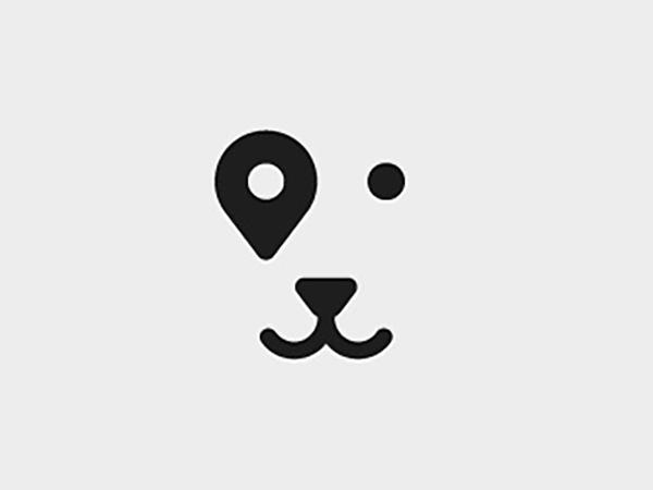 Pin Dog Logo