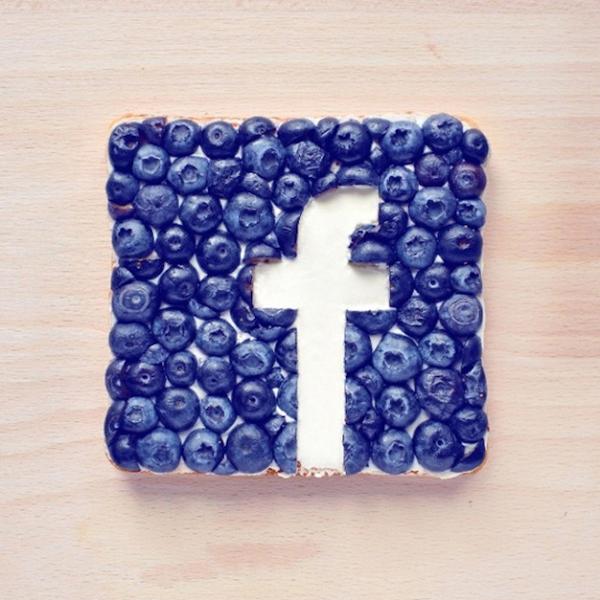 Facebook Food Logo by Daryna Kossar