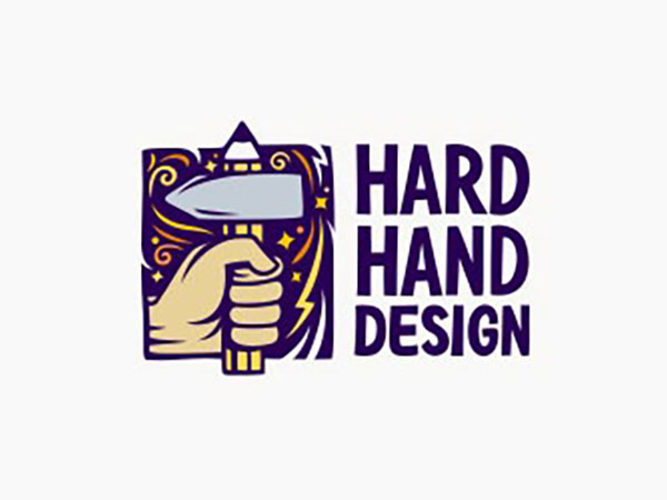 Hard Hand Design Logo