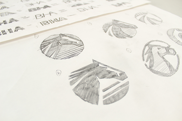 The BHA New Logo Sketches