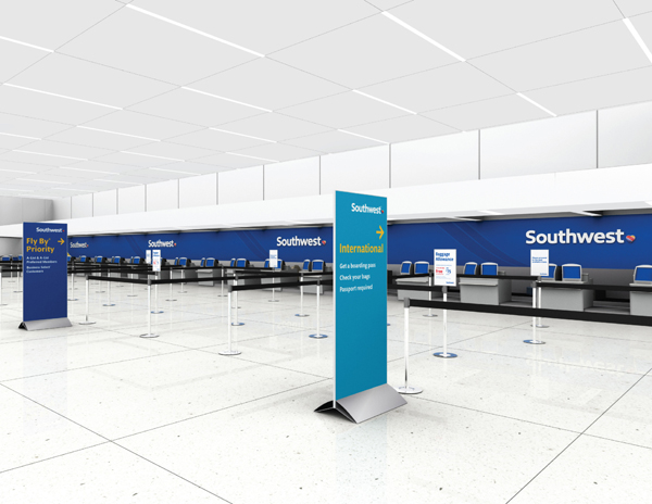 Southwest Airlines New Airport Identity