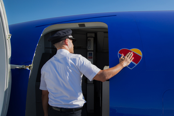 Southwest New Heart Touched by Captain