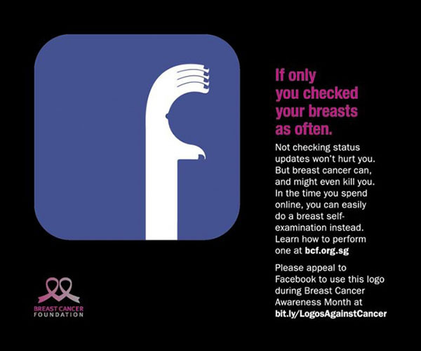 Facebook Logo for Breast Cancer Awareness