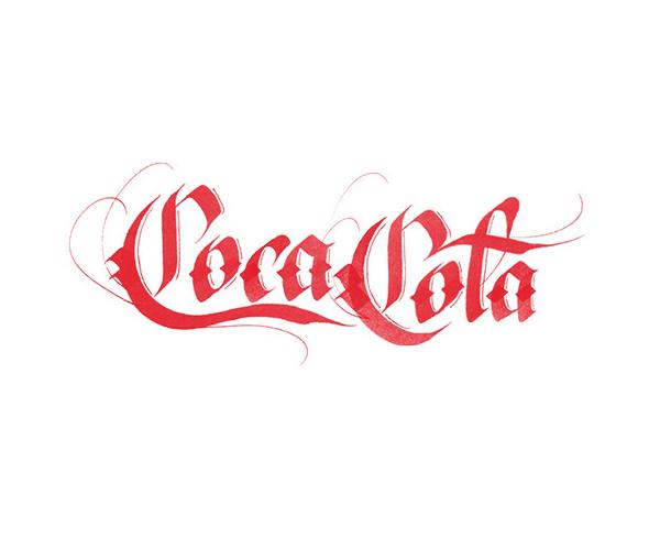Coca-Cola Logo Lettering by Sara Marshall