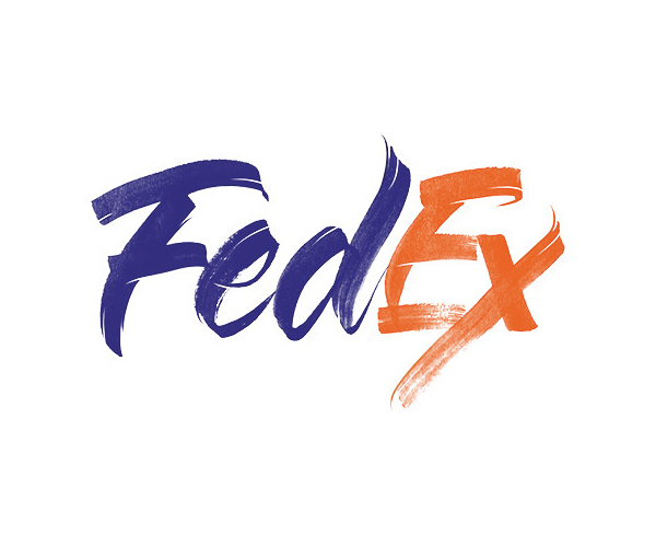 Fedex Logo Lettering by Sara Marshall