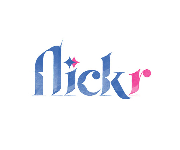 Flickr Logo Lettering by Sara Marshall