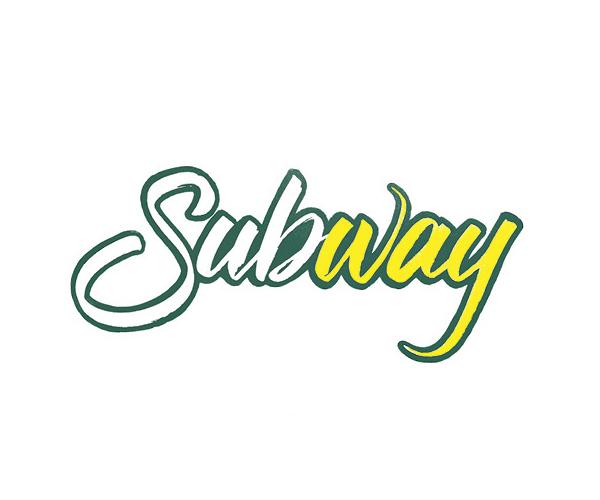 Subway Logo Lettering by Sara Marshall