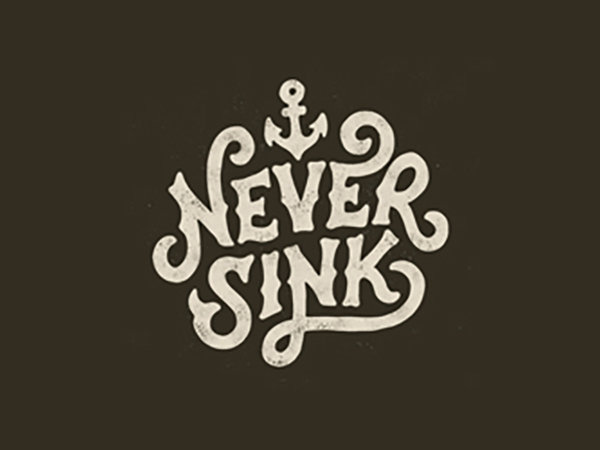 Never Sink Logo