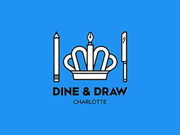 Dine & Draw Charlotte Logo