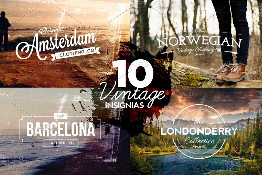 10 Vintage Insignias & Textures