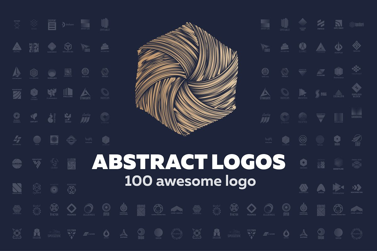 100 Abstract Logo