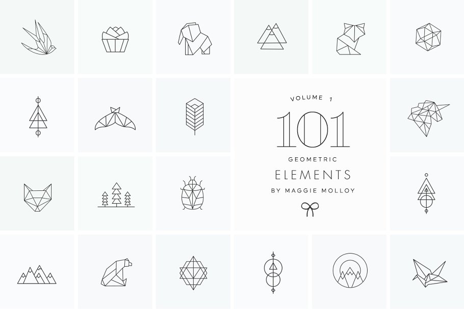 101 Geometric Logo Elements