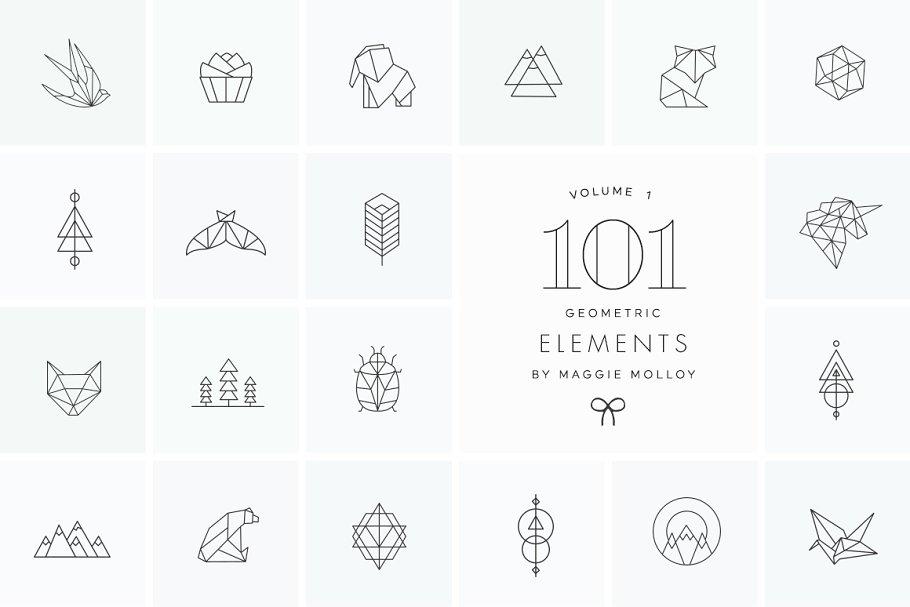 101 Geometric Logo Elements