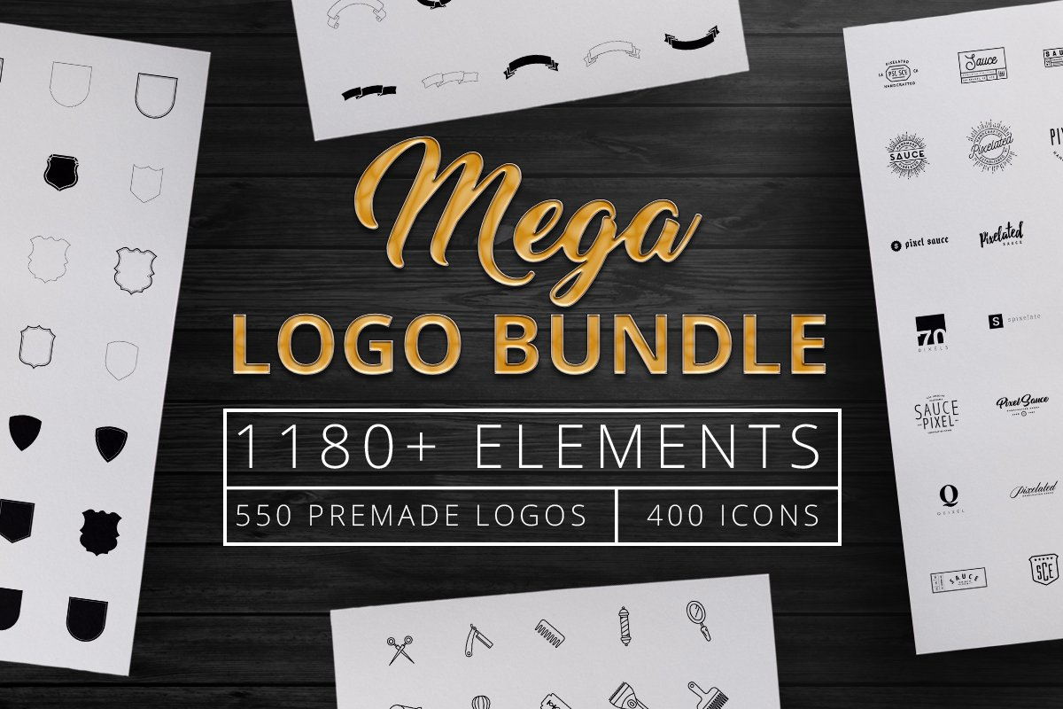 1180 Mega Logo Bundle Creator Kit
