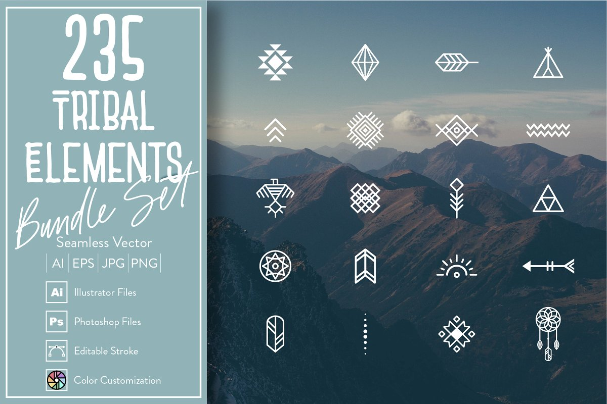 235 Tribal Elements Bundle Set