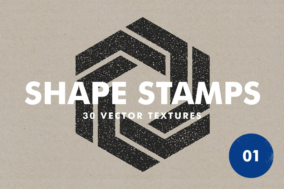 30 Vector Shape Stamps