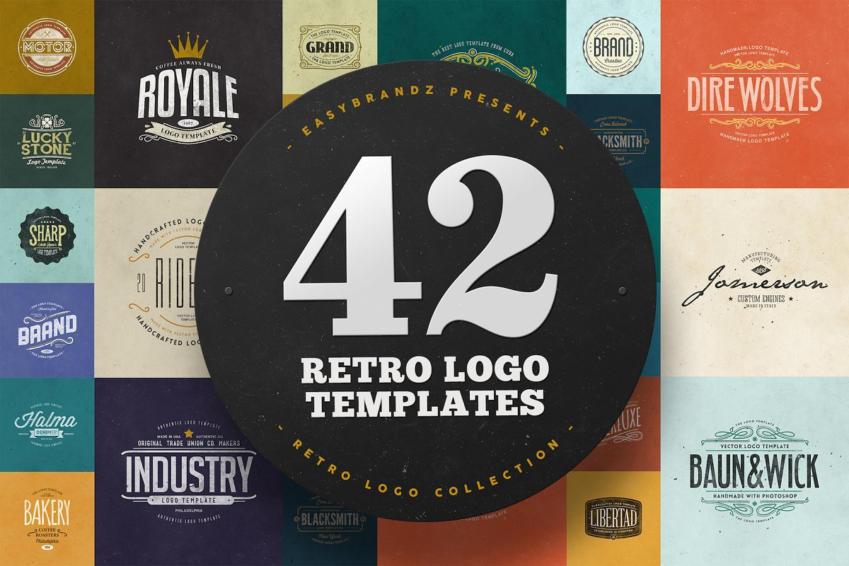 42 Logo Templates Bundle