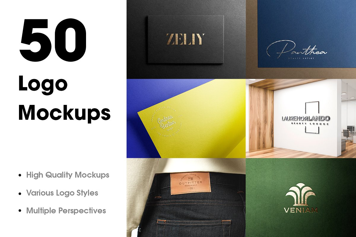 50 Logo Mockup Branding Bundle V1