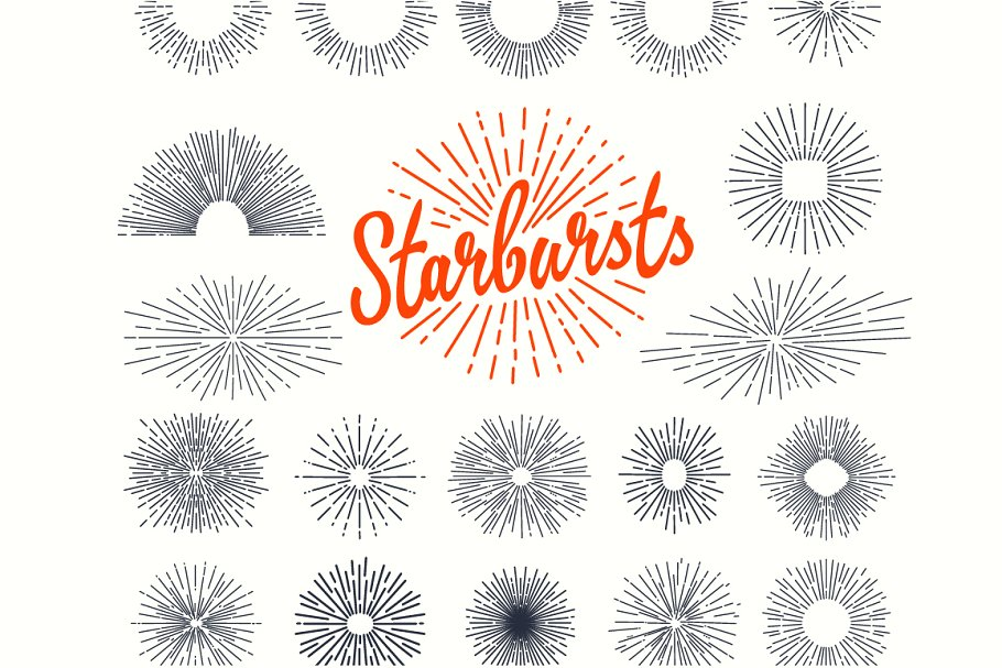 66 Vintage Starburst Bundle