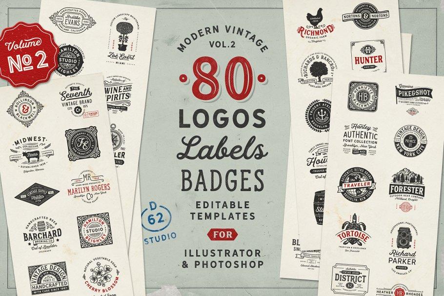 80 Modern Vintage Logos Vol 2