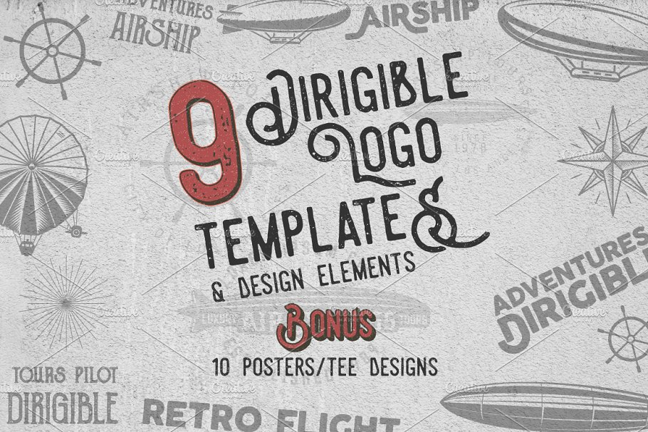 Airship Badges & Design Elements