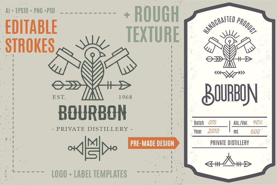 Bird Logo Label Template