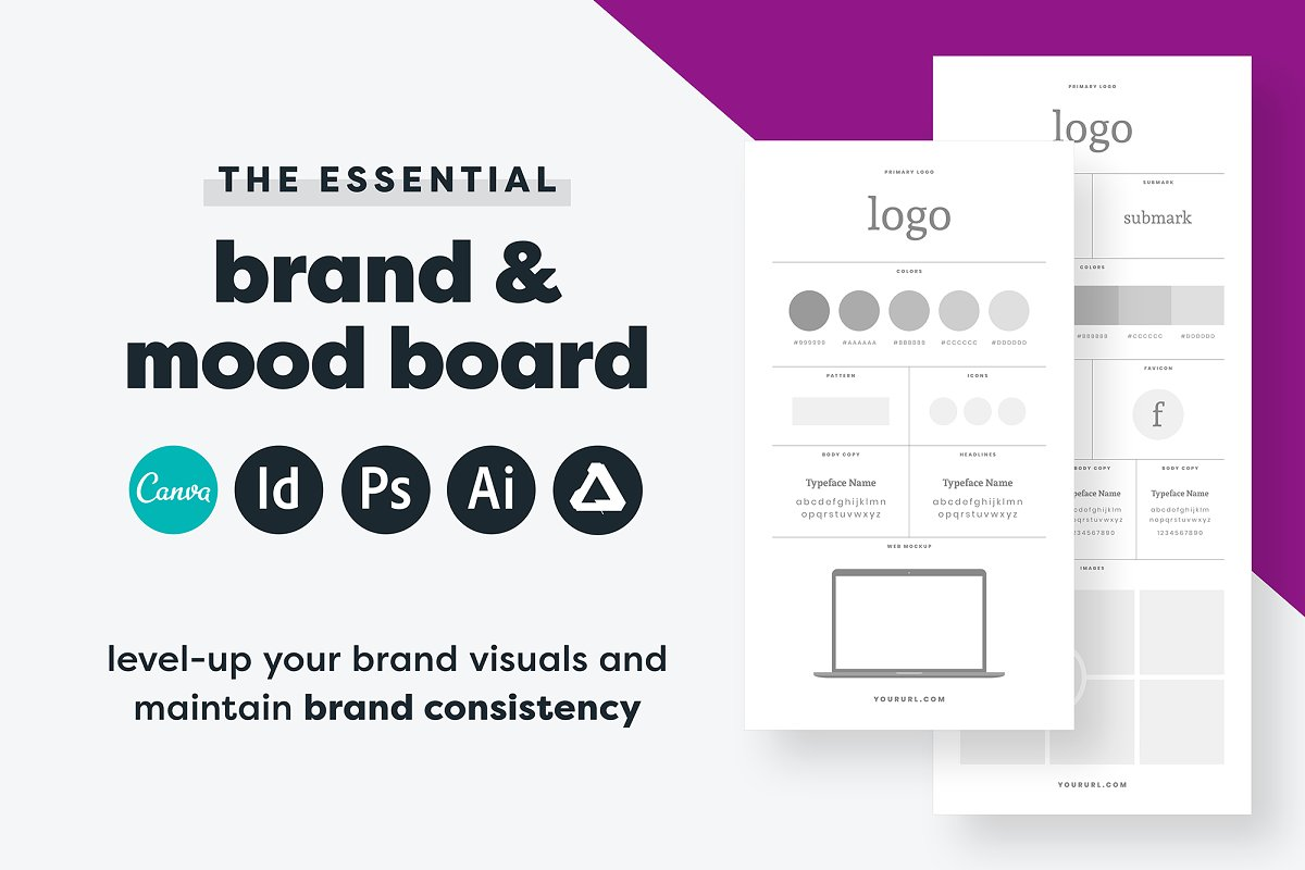 Brand Board Template Canva Adobe
