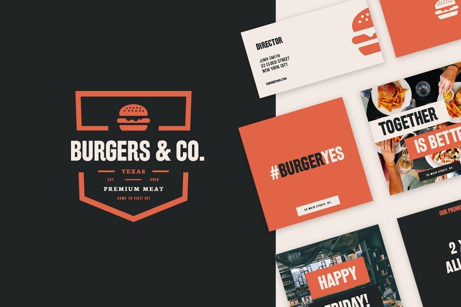 Branding Kit Burgers & Restaurant V1