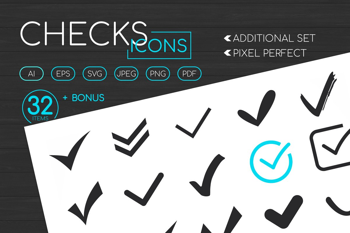 Check Marks Icons Set