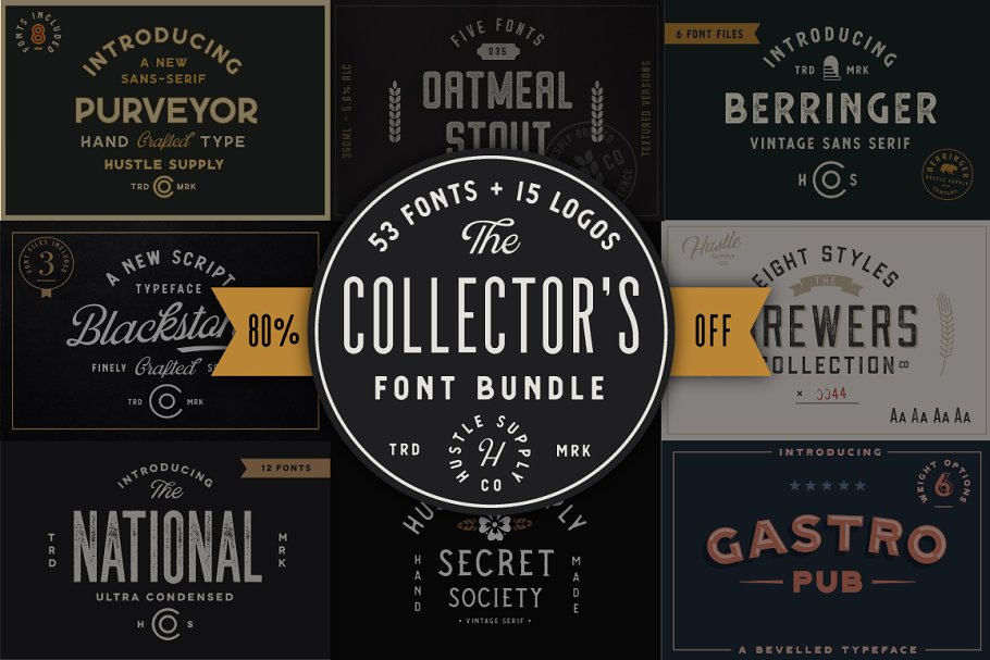 Collector'S Font Bundle 53 Fonts