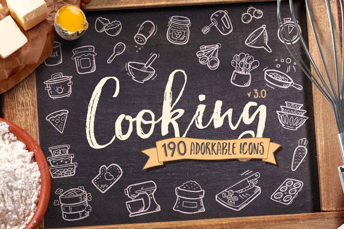 Cooking Hand Drawn Icons