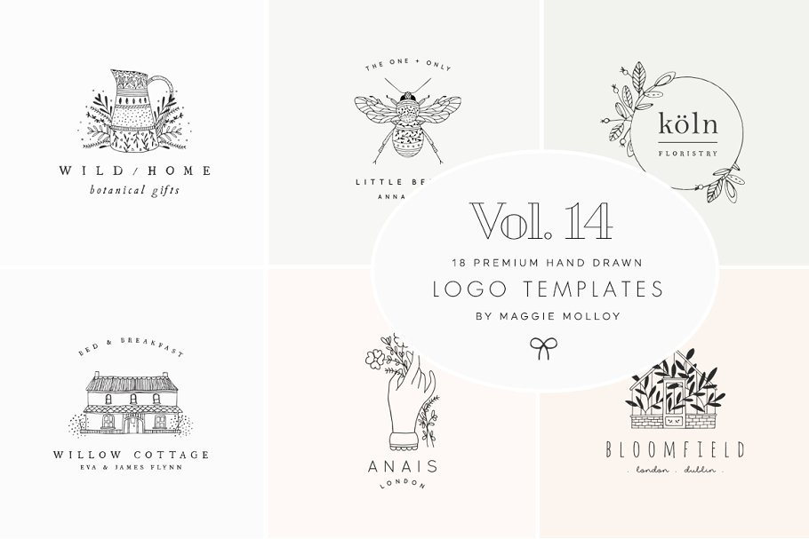 Feminine Premade Logo Bundle Vol 14