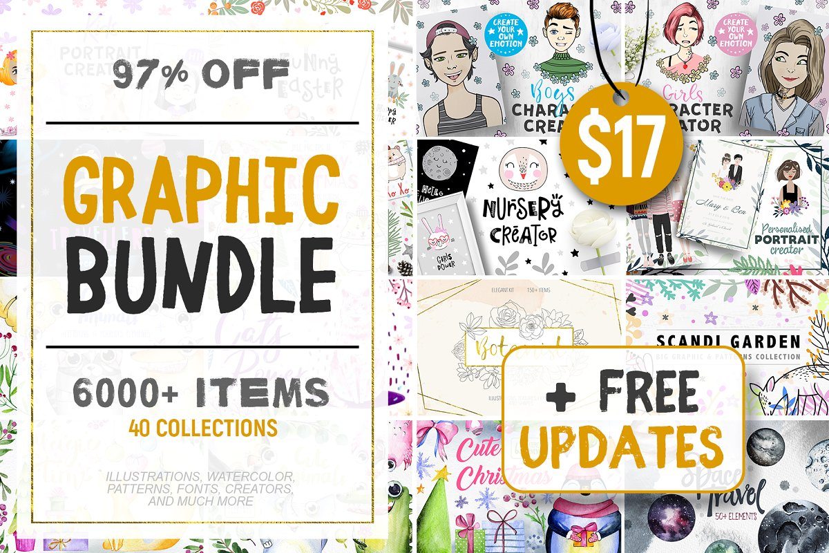 Graphic Bundle 6000 Items